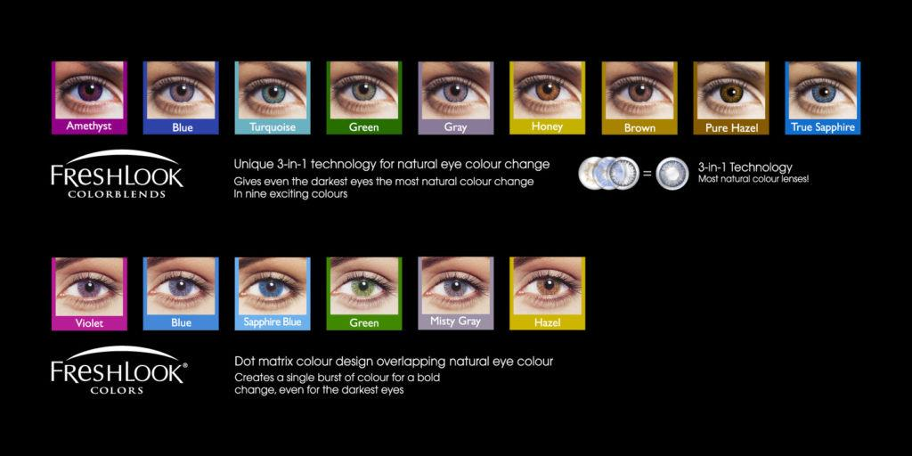fresh looks contacts color chart